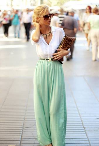 Palazzo Pants with solid whites