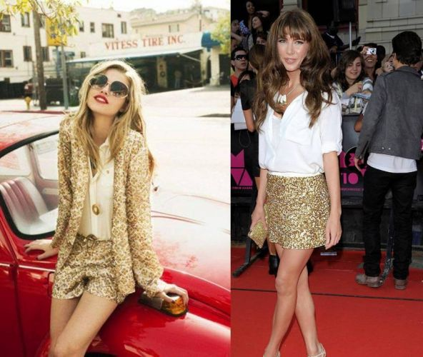 White Shirt and Gold Sequins