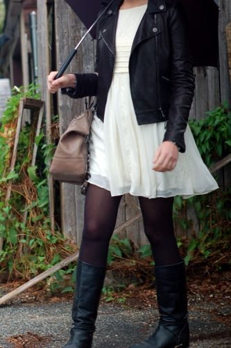 Go rocker chic with a leather jacket