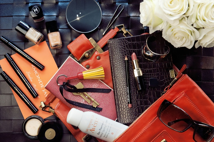 Things in a womens bag