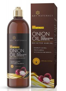 Rey Naturals Onion Hair Oil with 14 Essential Oils