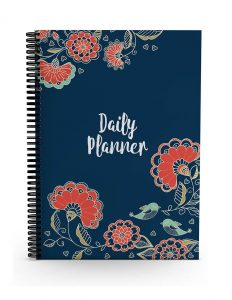 Alter Ego Floral Minimalist Daily Planner